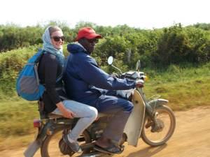 En boda-boda avec Mutebe